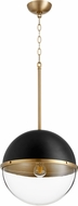 Quorum 83-14-6980 Modern Noir w/ Aged Brass 15  Hanging Light