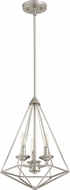 Quorum 8311-3-65 Bennett Contemporary Satin Nickel Foyer Light Fixture