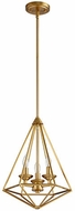 Quorum 8311-3-80 Bennett Modern Aged Brass Foyer Lighting