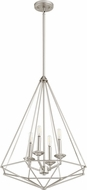 Quorum 8311-4-65 Bennett Contemporary Satin Nickel Entryway Light Fixture