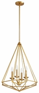 Quorum 8311-4-80 Bennett Modern Aged Brass Foyer Lighting Fixture