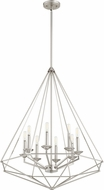 Quorum 8311-8-65 Bennett Contemporary Satin Nickel Foyer Light Fixture