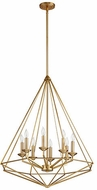 Quorum 8311-8-80 Bennett Modern Aged Brass Foyer Lighting Fixture
