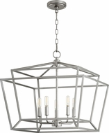 Quorum 8407-5-64 Monument Contemporary Classic Nickel Foyer Lighting