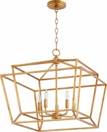 Quorum 8407-5-74 Monument Contemporary Gold Leaf Foyer Lighting Fixture