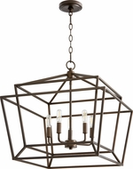 Quorum 8407-5-86 Monument Modern Oiled Bronze Entryway Light Fixture