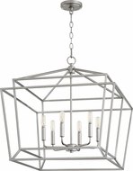 Quorum 8407-6-64 Monument Contemporary Classic Nickel Foyer Lighting