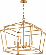 Quorum 8407-6-74 Monument Contemporary Gold Leaf Foyer Lighting Fixture