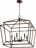 Quorum 8407-6-86 Monument Modern Oiled Bronze Entryway Light Fixture