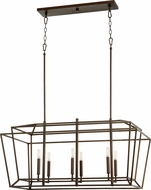 Quorum 8507-6-86 Monument Contemporary Oiled Bronze Kitchen Island Lighting