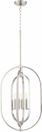 Quorum 8610-4-65 Contemporary Satin Nickel 16  Foyer Lighting Fixture