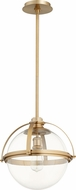 Quorum 88-15-80 Modern Aged Brass Hanging Pendant Light