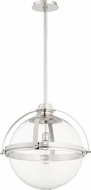 Quorum 88-20-62 Modern Polished Nickel Hanging Light Fixture