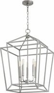 Quorum 8807-5-64 Monument Modern Classic Nickel Foyer Lighting