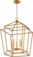 Quorum 8807-5-74 Monument Modern Gold Leaf Foyer Lighting Fixture