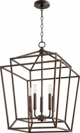 Quorum 8807-5-86 Monument Contemporary Oiled Bronze Entryway Light Fixture