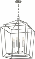Quorum 8807-6-64 Monument Modern Classic Nickel Foyer Lighting