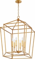 Quorum 8807-6-74 Monument Modern Gold Leaf Foyer Lighting Fixture