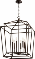 Quorum 8807-6-86 Monument Contemporary Oiled Bronze Entryway Light Fixture