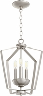Quorum 894-3-65 Modern Satin Nickel Foyer Lighting Fixture