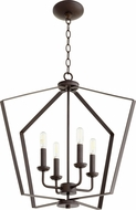 Quorum 894-4-86 Contemporary Oiled Bronze Foyer Lighting Fixture