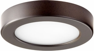 Quorum 906-5-86 Contemporary Oiled Bronze LED Interior / Exterior 5.5  Ceiling Light Fixture
