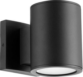 Quorum 920-2-69 Cylinder Contemporary Noir LED Outdoor Wall Sconce Light