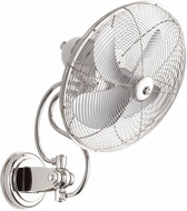Quorum 94144-62 Piazza Contemporary Polished Nickel w/ Chrome Blades Exterior 18 Ceiling Fan