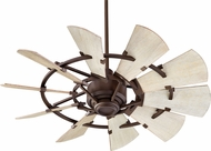 Quorum 94410-86 Windmill Contemporary Oiled Bronze 44  Home Ceiling Fan