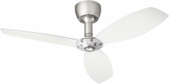 Quorum 97003-065-6030000124 Alpha Satin Nickel w/ Clear Blades Halogen 60  Ceiling Fan