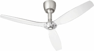 Quorum 97003-065-6030000174 Alpha Satin Nickel w/ Italia Clear Blades Halogen 60  Home Ceiling Fan