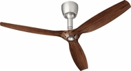 Quorum 97003-065-6032424174 Alpha Satin Nickel w/ Italia Walnut Blades Halogen 60  Home Ceiling Fan