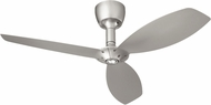 Quorum 97003-065-6036565124 Alpha Satin Nickel w/ Satin Nickel Blades Halogen 60  Ceiling Fan