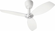 Quorum 97003-08-5230000124 Alpha Studio White w/ Clear Blades Halogen 52  Ceiling Fan
