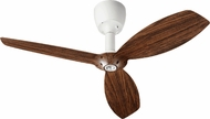 Quorum 97003-08-5232424124 Alpha Studio White w/ Walnut Blades Halogen 52  Ceiling Fan