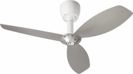 Quorum 97003-08-5236565124 Alpha Studio White w/ Satin Nickel Blades Halogen 52  Home Ceiling Fan