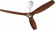 Quorum 97003-08-6032424174 Alpha Studio White w/ Italia Walnut Blades Halogen 60  Home Ceiling Fan