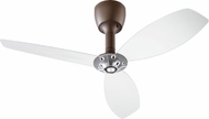 Quorum 97003-086-5230000124 Alpha Satin Nickel w/ Clear Blades Halogen 52  Ceiling Fan