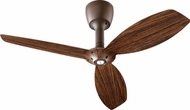 Quorum 97003-086-5232424124 Alpha Oiled Bronze w/ Walnut Blades Halogen 52  Ceiling Fan