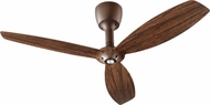 Quorum 97003-086-6032424124 Alpha Oiled Bronze w/ Walnut Blades Halogen 60  Ceiling Fan