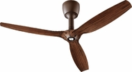 Quorum 97003-086-6032424174 Alpha Oiled Bronze w/ Italia Walnut Blades Halogen 60  Home Ceiling Fan