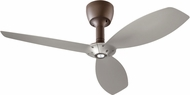 Quorum 97003-086-6036565124 Alpha Oiled Bronze w/ Satin Nickel Blades Halogen 60  Ceiling Fan
