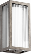 Quorum 9717-6-37 Maestro Modern Weathered Zinc LED Outdoor 12 Wall Sconce