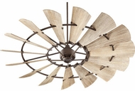 Quorum 97215-86 Windmill Contemporary Oiled Bronze w/ Weathered Oak Blades 72 Home Ceiling Fan