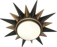 Robert Abbey 1017 Cosmos Contemporary Deep Patina Bronze with Warm Brass Ceiling Light Fixture