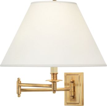 Robert Abbey 1504X Kinetic Brass Traditional Antique Brass Swing Arm Wall Lamp