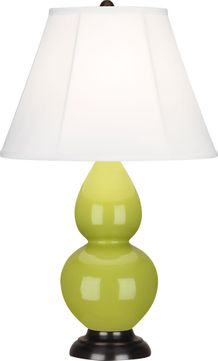Robert Abbey 1653 Double Gourd Apple Glazed Ceramic with Deep Patina Bronze 23 Lighting Table Lamp