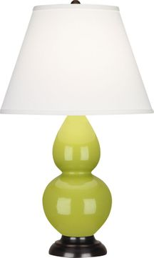 Robert Abbey 1653X Double Gourd Apple Glazed Ceramic with Deep Patina Bronze 23 Table Top Lamp