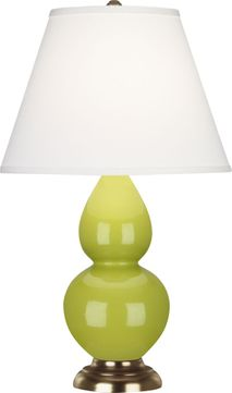 Robert Abbey 1683X Double Gourd Apple Glazed Ceramic with Antique Natural Brass 23 Table Lighting