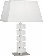 Robert Abbey 175 Jonathan Adler Monaco Polished Nickel and Clear Crystal Table Lighting